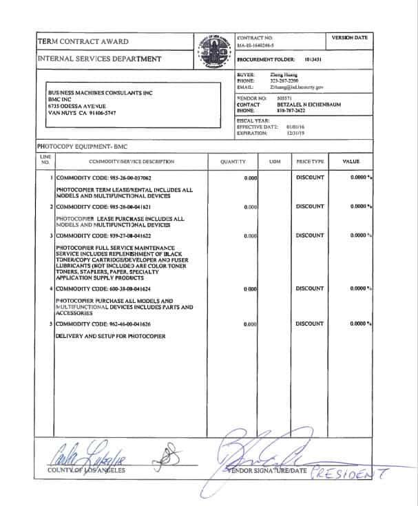 BMC LA City Contract