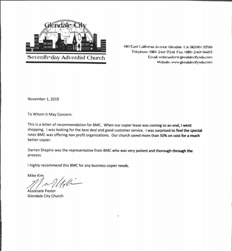 Glendale-City-Church-Recommendation-Letter